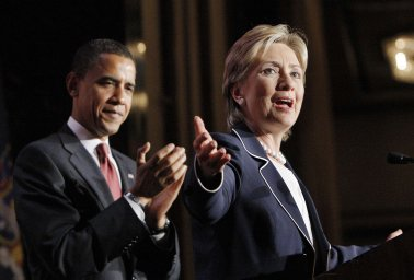B. Obama et H. Clinton