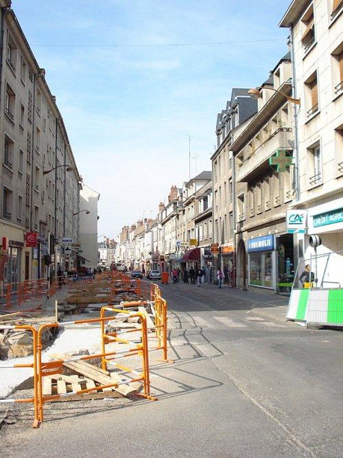 Le rue des Carmes en travaux